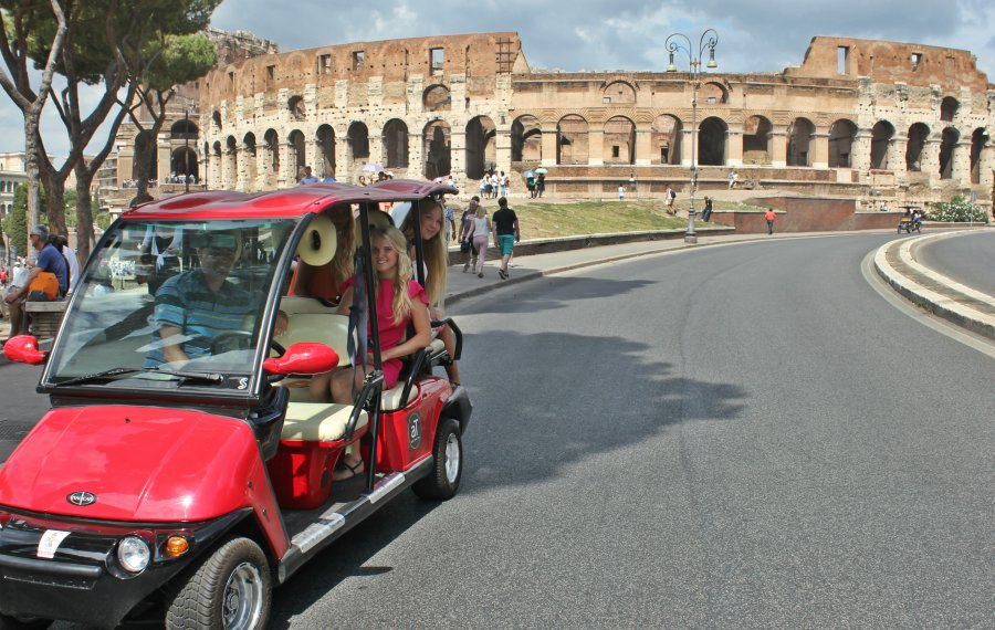 rome by golf-cart